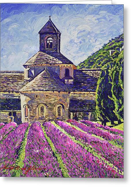 Purple Gardens Provence Greeting Card by David Lloyd Glover