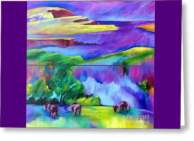 Purple Graze Greeting Card