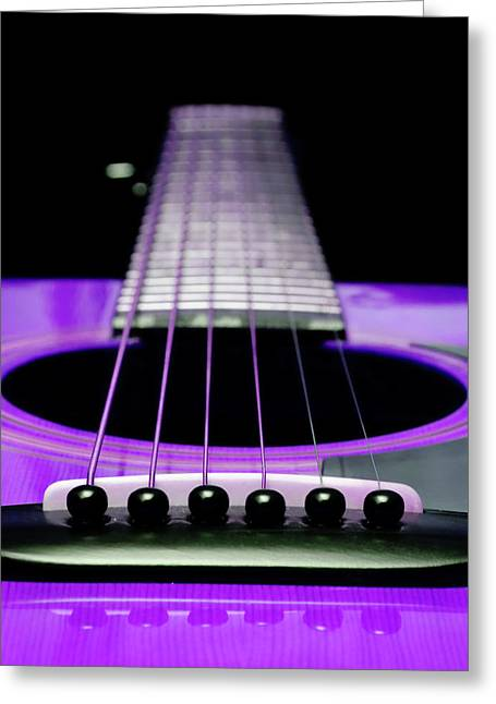 Andee Photography Greeting Cards - Purple Guitar 15 Greeting Card by Andee Design