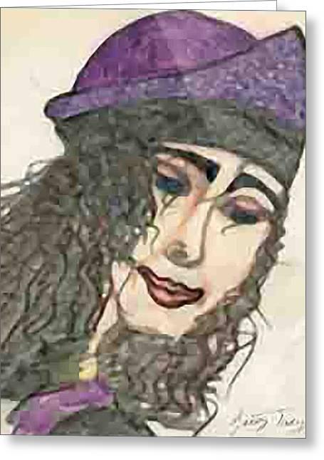 Purple Hat Greeting Card