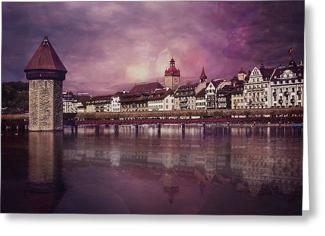 Purple Haze Greeting Card by Carol Japp