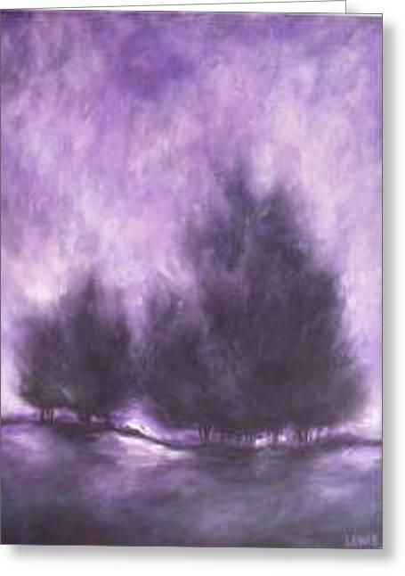 Purple Haze Greeting Card by Ellen Lewis