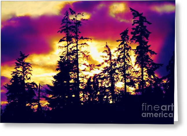 Greeting Card featuring the photograph Purple Haze Forest by Nick Gustafson
