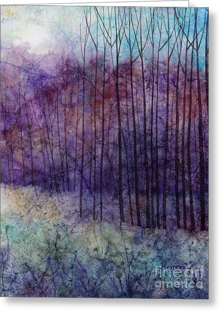 Purple Haze Greeting Card by Hailey E Herrera
