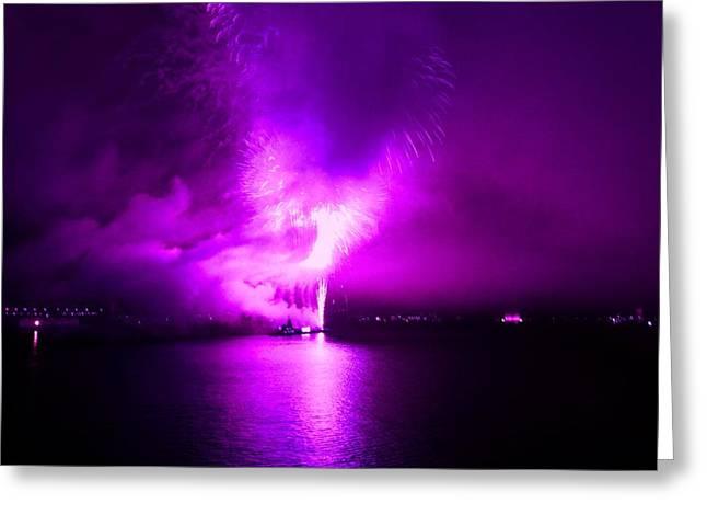 Purple Haze Greeting Card by Kendall Eutemey