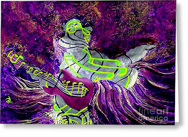 Purple Haze Greeting Card by Ron Carter