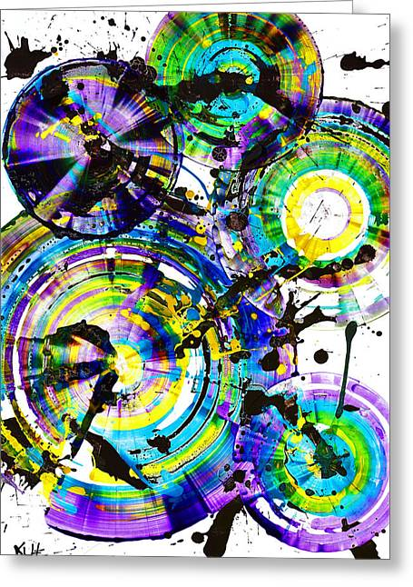 Purple Haze Spheres And Circles 1509.021413 Greeting Card