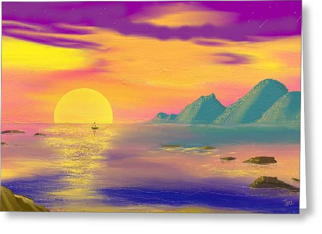 Purple Haze Sunset Greeting Card