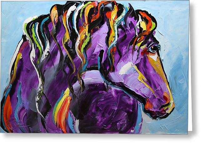 Purple Horse Greeting Card