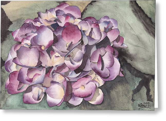 Purple Hydrangeas Greeting Cards - Purple Hydrangea Greeting Card by Ken Powers