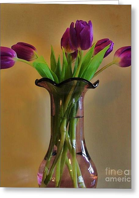 Purple In Purple Greeting Card by Marsha Heiken