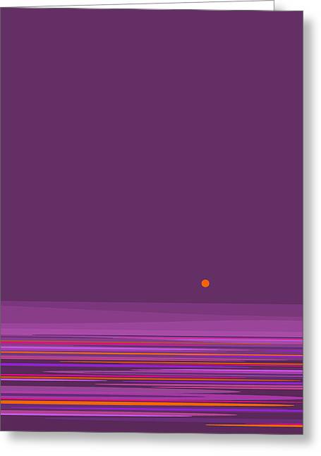 Purple In The Moonlight - Vertical Greeting Card