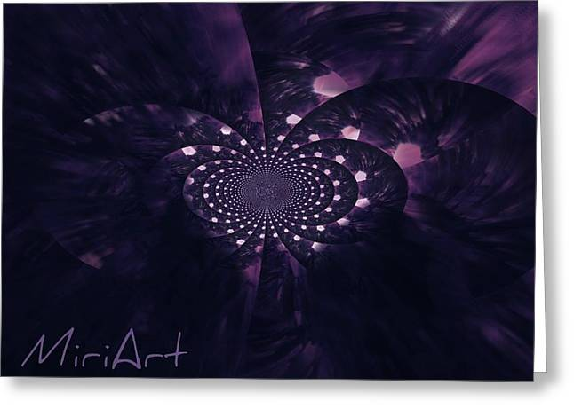 Greeting Card featuring the photograph Purple Intrigue by Miriam Shaw