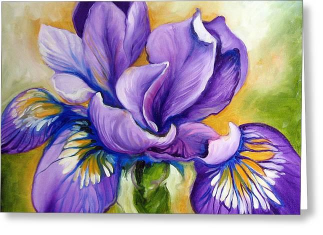 Purple Iris Wildflower Greeting Card