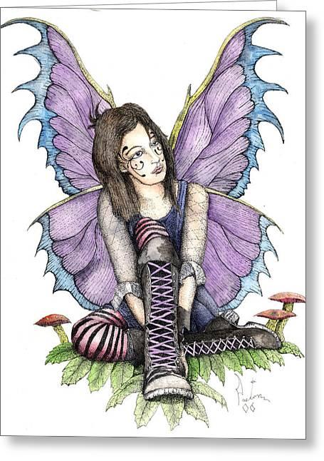 Purple Laces Greeting Card by Preston Shupp