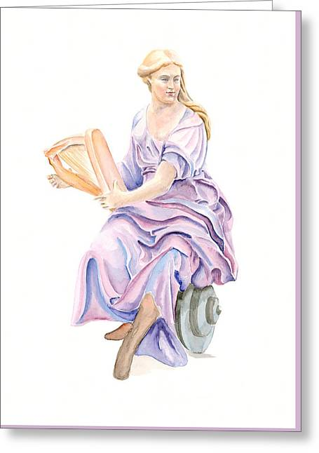 Purple Lady Greeting Card