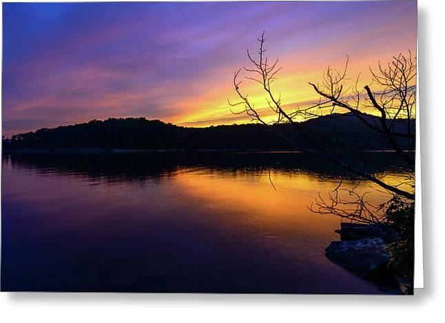 Purple Lake Greeting Card