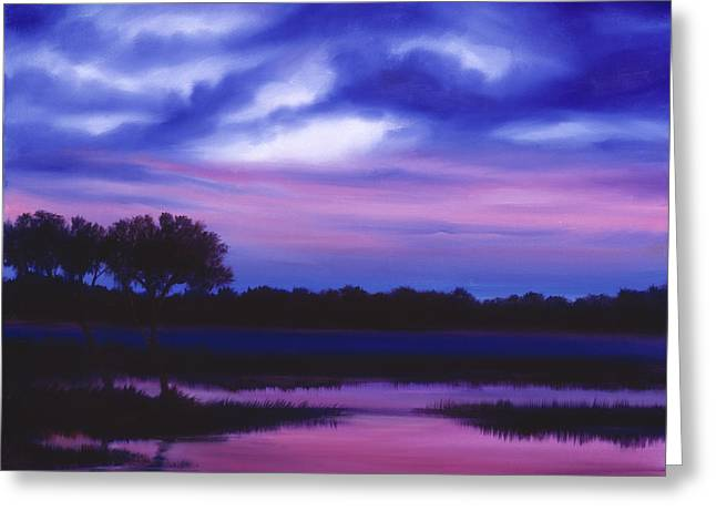Purple Landscape Or Jean's Clearing Greeting Card
