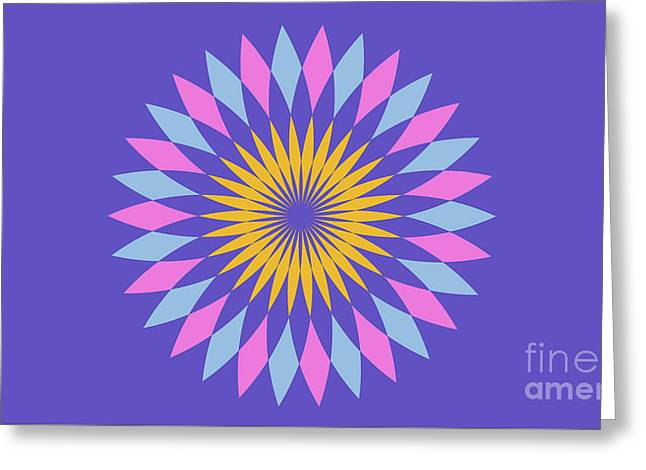 Purple Landscape Greeting Card