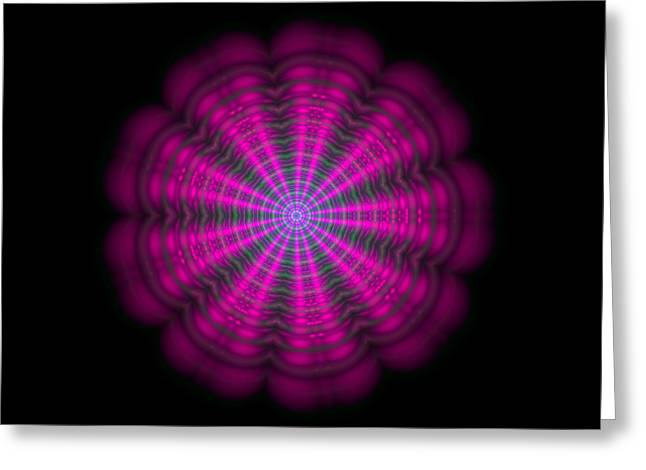 Purple Lightmandala Ripples Greeting Card