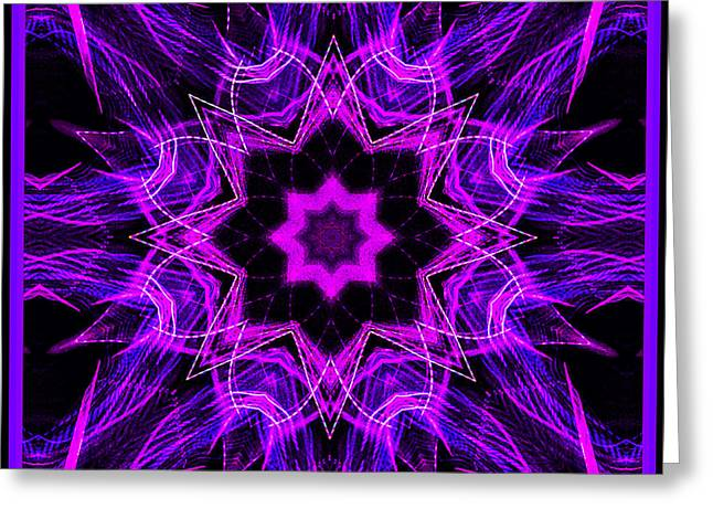 Purple Lines Greeting Card by Barbara MacPhail
