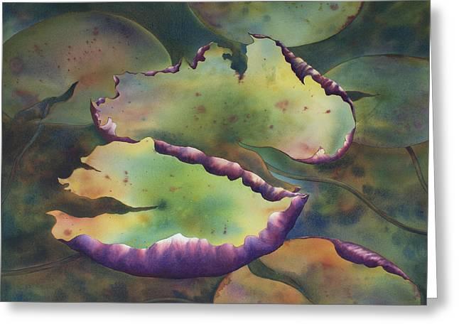 Purple Linings I Greeting Card