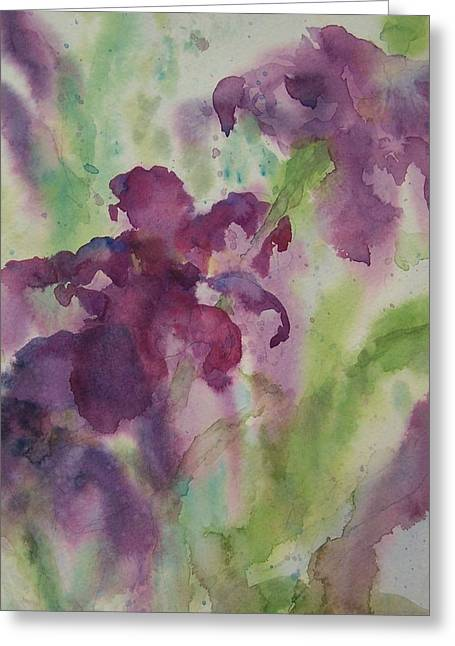 Purple Magic Greeting Card by Sandy Collier