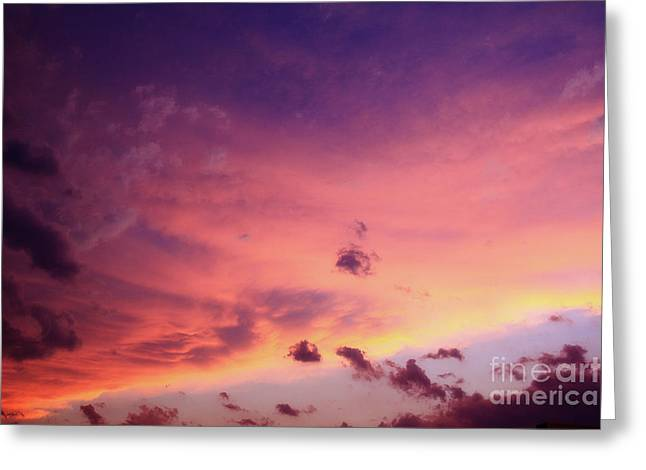 Colorful Sunset Greeting Cards Greeting Cards - Purple majesty Greeting Card by Toni Hopper