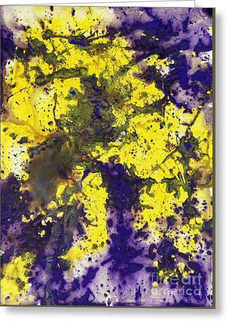 Purple Married Yellow Greeting Card
