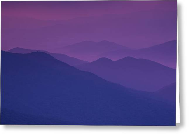 Purple Mountain Majesty Greeting Card
