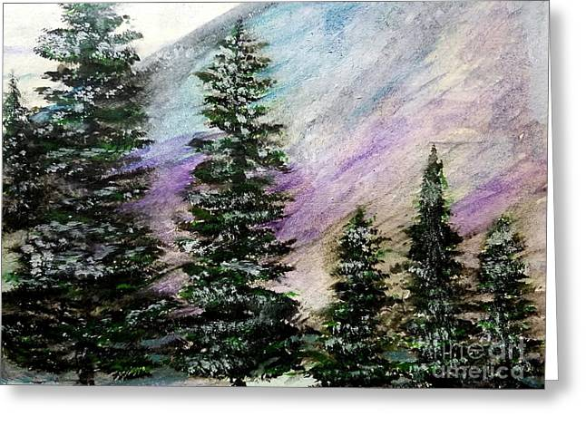 Purple Mountain Majesty Greeting Card by Scott D Van Osdol