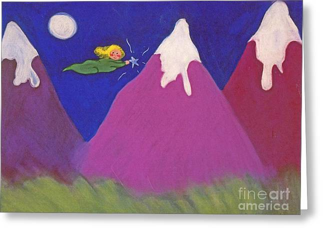 Purple Mountains Majesty Greeting Card by Christine Crosby