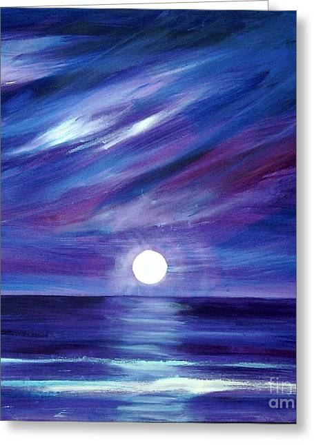 Purple Night Greeting Card