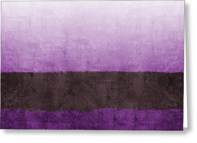 Purple On The Horizon- Art By Linda Woods Greeting Card by Linda Woods