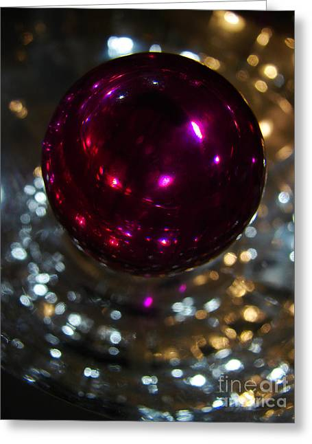 Purple Orb Greeting Card