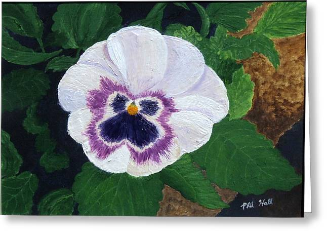 Purple Pansy Greeting Card by Philip Hall