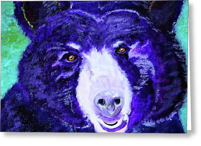 Purple Passion Bear Greeting Card