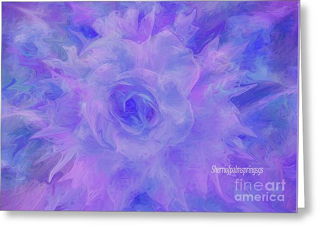 Purple Passion By Sherriofpalmspringsflower Art-digital Painting  Photography Enhancements Tradition Greeting Card by Sherri's Of Palm Springs