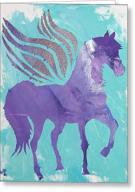 Purple Pegasus Greeting Card