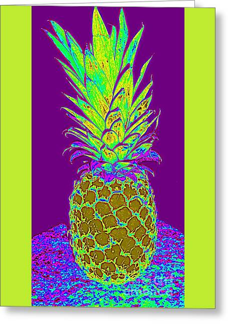 Purple Pineapple Greeting Card