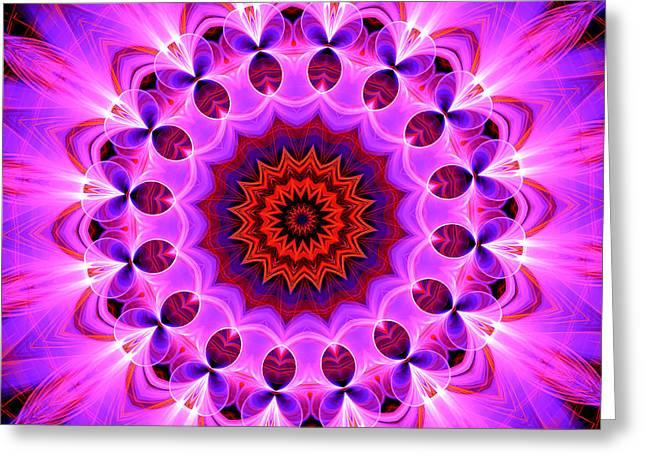 Purple, Pink And Orange Kaleidoscope Greeting Card