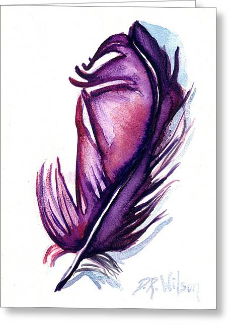Purple Plume Greeting Card