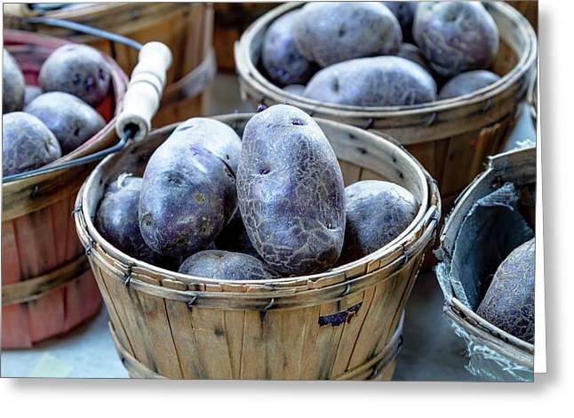 Purple Potatoes Greeting Card