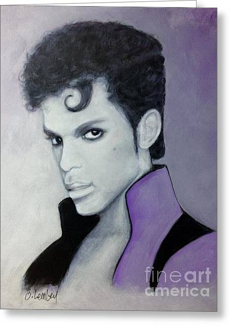 Purple Prince Greeting Card