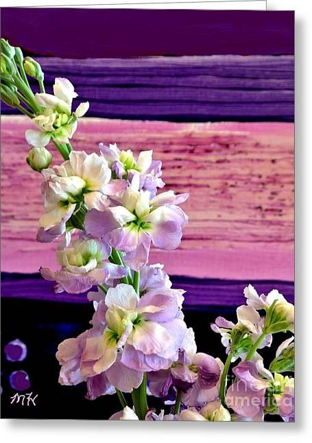 Purple Purple Everywhere Greeting Card by Marsha Heiken