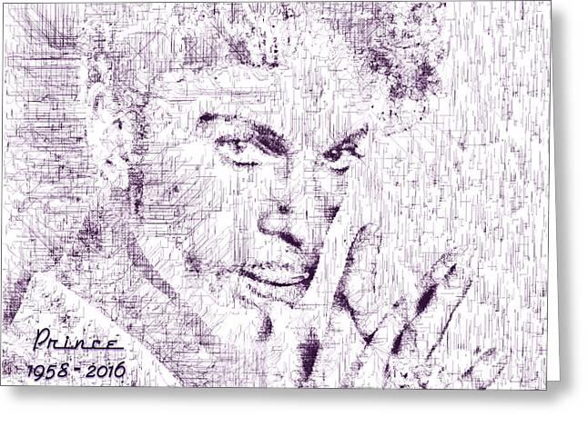 Purple Rain By Prince Greeting Card