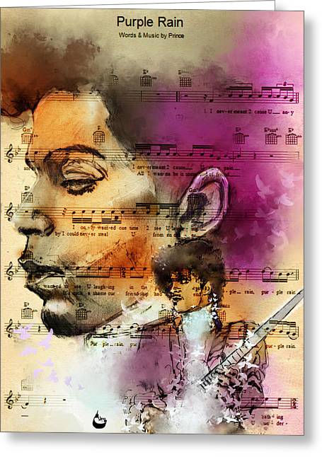 Purple Rain Forever Greeting Card