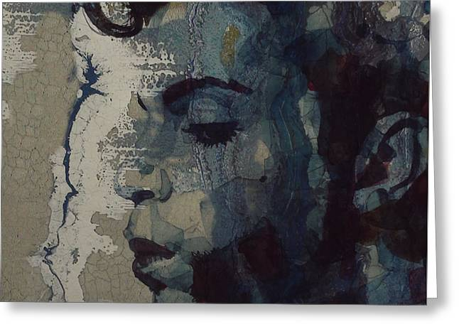 Greeting Card featuring the mixed media Purple Rain - Prince by Paul Lovering