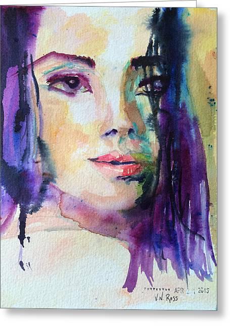 Purple Rain Greeting Card by Vicki Ross
