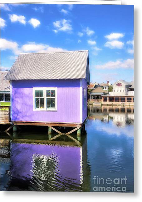 Purple Reflections Greeting Card by Mel Steinhauer